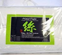 100%Natural Green tussah Silk Filled White Comforter for Summer