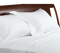 300TC Poly/Cotton Linens – Solid Sateen White